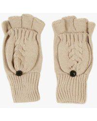 Azalea - Knitted Fingerless Gloves - Lyst