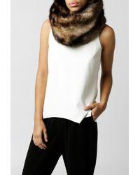 Azalea - Faux Fur Heavy Snood - Lyst