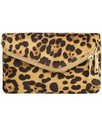 Azalea - Leopard Chain Clutch Bag - Lyst