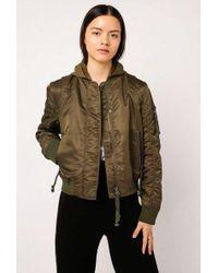 Doma Leather - Aviator Bomber Jacket - Lyst