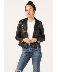 Doma Leather - Classic Fitted Moto Jacket - Lyst
