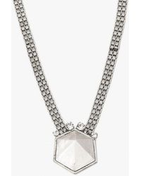 Nicole Romano - Geo Rock Crystal Band Necklace - Lyst