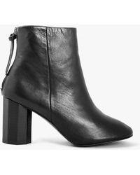 Grey City - Sadie Calf Leather Booties - Lyst