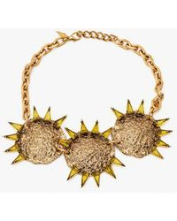 Nicole Romano - Triple Hammered Triangle Medallion Necklace - Lyst
