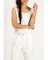 Objects Without Meaning - Twist Button Back Top - Lyst