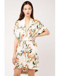 Azalea - Floral Peach Kimono Dress - Lyst