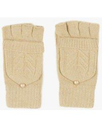 Azalea - Fingerless Mitten Gloves - Lyst
