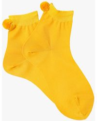 Hansel From Basel - Metallic Pom Pom Short Crew Sock - Lyst