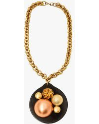 Nicole Romano - Dome Cluster Black Disc Necklace - Lyst