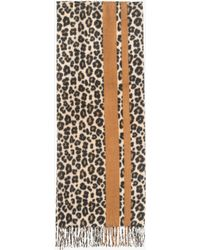 Azalea - Dark Leopard Blanket Scarf - Lyst