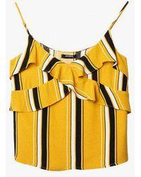 Azalea - Sleeveless Strap Stripe Top - Lyst