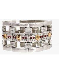 Nicole Romano - Pave Crystal Link Bracelet - Lyst
