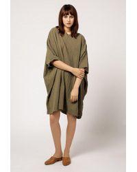 Uzi - Coarse Cotton Box Dress - Lyst