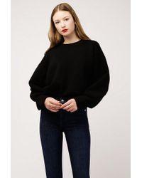 Azalea - Mock Neck Knit Solid Sweater - Lyst
