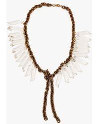 Nicole Romano - Vintage Crystal Prism Necklace - Lyst