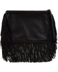 Pierre Hardy Black Fringe Leather Clutch Bag - Lyst
