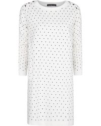 Mango Polkadot Dress - Lyst