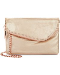 Hobo Daria Vintage Leather Crossbody Bag beige - Lyst