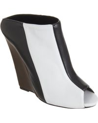 Narciso Rodriguez Colorblock Wedge Slide - Lyst