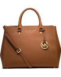 MICHAEL Michael Kors Saffiano Leather Tote - For Women - Lyst