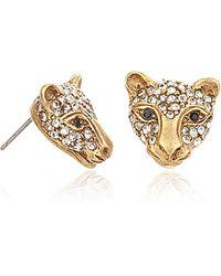 Elizabeth Cole Jaguar Post Earrings - Lyst