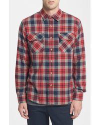 Obey 'Floyd' Nep Plaid Flannel Shirt - Lyst