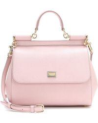 Dolce & Gabbana Miss Sicily Mini Leather Shoulder Bag - Lyst