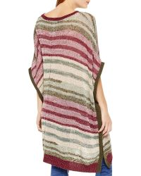 Two By Vince Camuto - Marled Stripe Poncho - Lyst