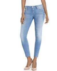 Mother Looker Zip Fray Ankle Jeans - Lyst