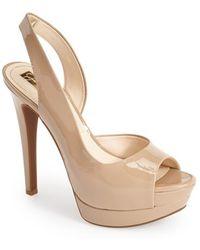 Jessica Simpson 'Sabella' Slingback Half D'Orsay Sandal beige - Lyst