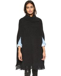 A.P.C. 70s Poncho - Anthracite - Lyst