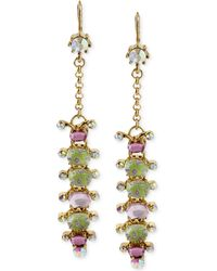 Betsey Johnson Goldtone Caterpillar Linear Earrings - Lyst