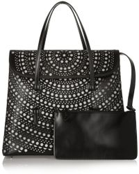 Alaïa Vienna Lasercut Leather Tote - Lyst