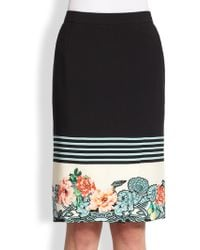 Etro Floral Stripe Skirt - Lyst