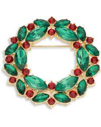 R.j. Graziano - Crystal Wreath Pin - Lyst