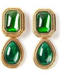 Yves Saint Laurent Vintage Dangley Clipon Earrings - Lyst
