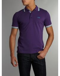 Hugo Boss Classic Logo Tipped Detail Polo Shirt - Lyst