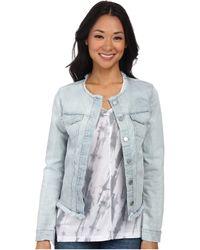 Calvin Klein Jeans Collarless Jacket - Lyst