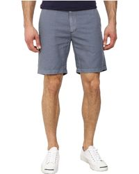 AG Adriano Goldschmied Wanderer Cotton-Linen Blend Shorts In Sulfur Shadow Grey - Lyst