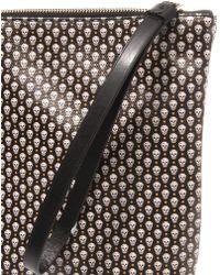 Alexander McQueen Micro Skullprint Leather Pouch - Lyst