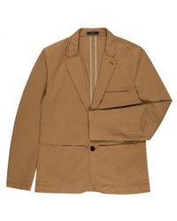 Paul Smith Taupe Two-Button Stretch-Cotton Blazer - Lyst