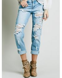 Free People | Awesome Destroyed Baggies | Lyst