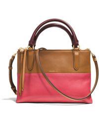 Coach The Mini Borough Bag in Retro Colorblock Leather - Lyst