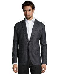 Dolce & Gabbana Grey Melange Wool Blend 2-Button Jacket - Lyst