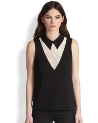 Honor Dragonfly Laceinsert Top - Lyst
