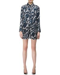 Thakoon Addition Longsleeve Crossfront Silk Shirtdress - Lyst