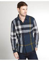 Burberry Check Cotton Long Sleeve Shirt - Lyst