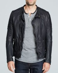 Scotch & Soda Leather Jacket - Lyst