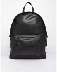 Asos B Leather Backpack - Lyst
