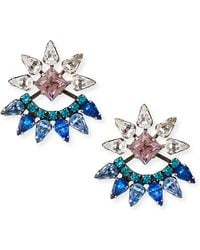 Dannijo Livi Crystal Jacket Earrings - Lyst